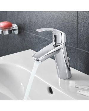 Grohe Eurosmart Einhand-Waschtischbatterie, M-Size mit Ablaufgarnitur-Wasserhahn